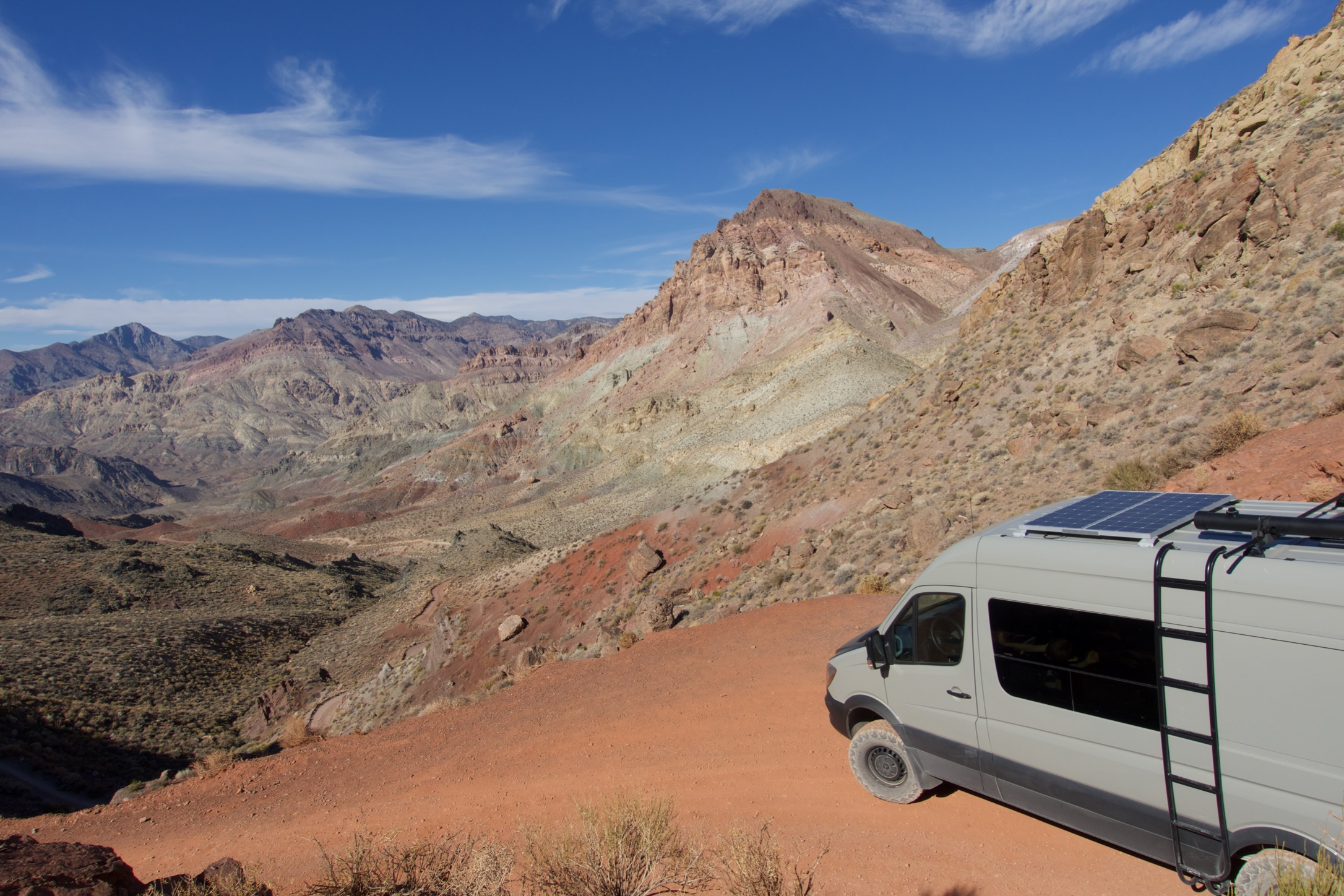 Sprinter van in Death Valley National park